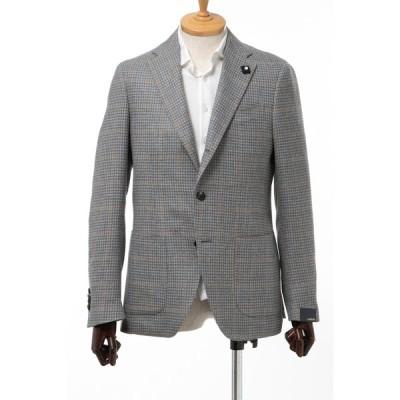 ラルディーニ LARDINI ジャケット シングル サイドベンツ ノッチドラペル 2つボタン EI0557AV EEA50525 17 メンズ 0557AV EEA50525 グレー