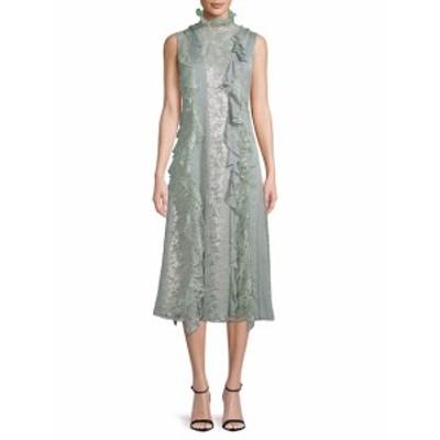ランバン レディース ワンピース Floral Lace Midi Dress