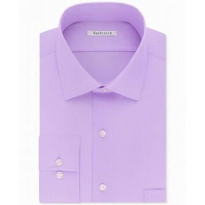 ファッション ドレス Van Heusen NEW Lilac Purple Mens Size 17 1/2 Big & Tall Dress Shirt