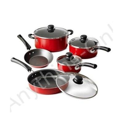新品 Tramontina 9-Piece Simple Cooking Nonstick Cookware Set (Red) by Tramontina USA, Inc.並行輸入品