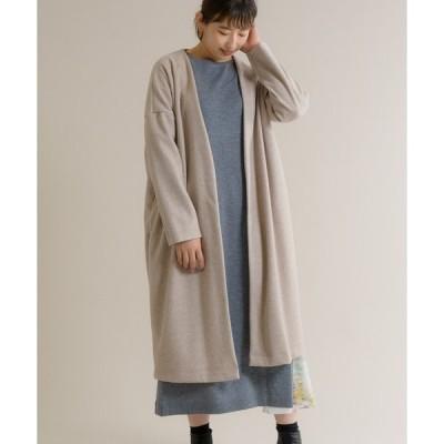 【KATHARINE ROSS】ウール調 軽量ロングカーディガンコート