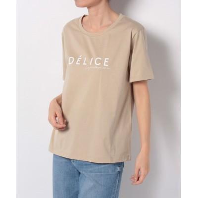 【アン レクレ】 ロゴプリントTシャツ レディース ブラウン系 2 en recre