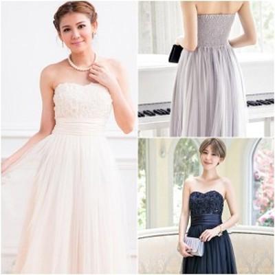 ウエディングドレス ブライズメイドドレス ワンピース 結婚式 ロング丈 二次会 披露宴 ドレス ビスチェ