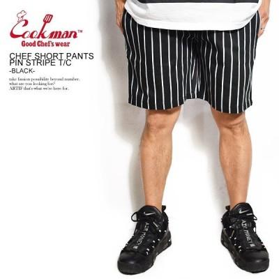 COOKMAN クックマン ショートパンツ CHEF SHORT PANTS PIN STRIPE TC BLACK メンズ ショーツ レディース 男女兼用 おしゃれ コックマン