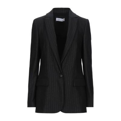 CARACTÈRE テーラードジャケット ブラック 46 ウール 54% / レーヨン 29% / ナイロン 14% / ポリエステル 3% テーラ