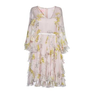 ジャンバ GIAMBA ミニワンピース&ドレス ライトピンク 40 シルク 100% ミニワンピース&ドレス