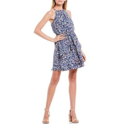 I.N.サンフランシスコ レディース ワンピース トップス High Neck Ditsy Print Dress