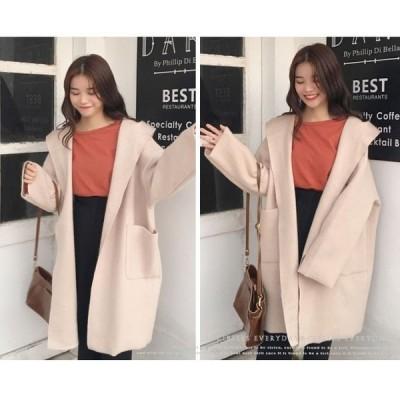 トレンチコート女性服春新作ロング丈無地薄手シンプルなデザインカーディガンオーバーサイズ女らしさ主張