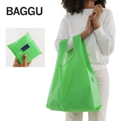メール便 BAGGU バッグ STANDARD スタンダード Neon Green ネオン グリーン 黄緑 エコバッグ ナイロンバッグ ギフト 景品 プレゼント