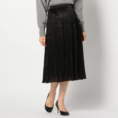 GALLORIA レディース 【在庫限り】ランダムプリーツスカート 黒 L
