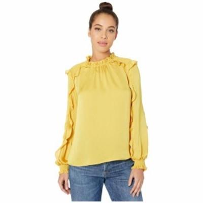 ビーシービージーマックスアズリア BCBGMAXAZRIA レディース ブラウス・シャツ トップス Long Sleeve Blouse Ceylon Yellow