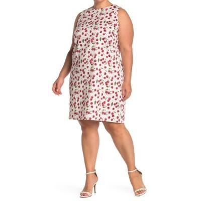 ロンドンタイムス レディース ワンピース トップス Cherry Print Sleeveless Shift Dress IVORY/RED