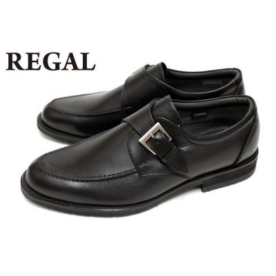 リーガル REGAL 靴 メンズ ビジネスシューズ 34NR BB 本革 GORE-TEX Uモンク ブラック