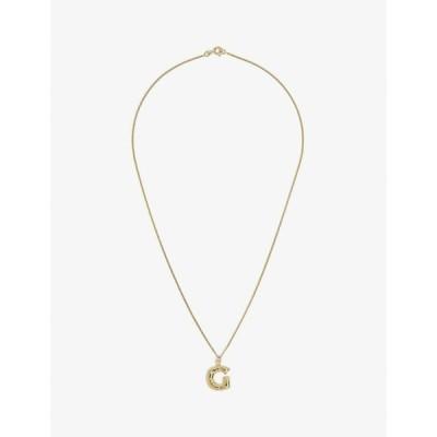 コンプリートワークス COMPLETEDWORKS レディース ネックレス Letter G 14Ct Yellow Gold-Plated Vermeil Sterling-Silver Pendant Necklace GOLD