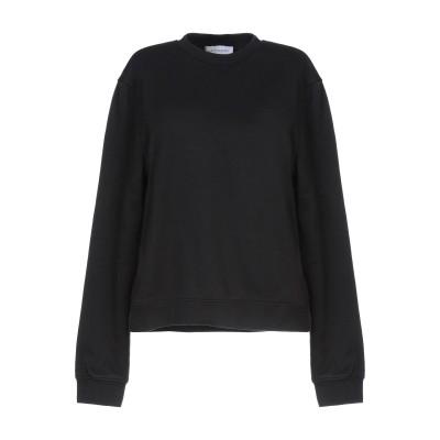 NINETY PERCENT スウェットシャツ ブラック XS コットン 100% スウェットシャツ