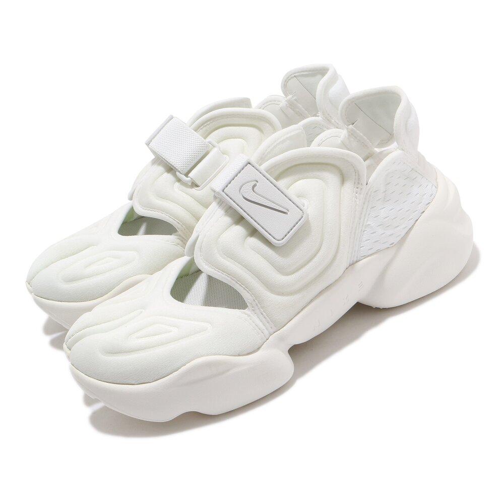 NIKE 休閒鞋 Aqua Rift 運動 女鞋 輕便 忍者鞋 舒適 穿搭 簡約 全白 [CW7164-100]