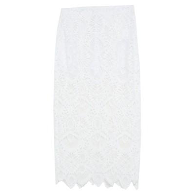 ドンダップ DONDUP ロングスカート ホワイト 42 ポリエステル 100% ロングスカート