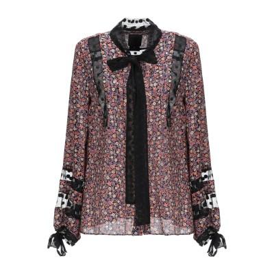ANNA SUI シャツ ブラック 4 シルク 100% / ポリエステル シャツ