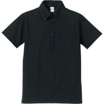 キャブキャブ 5.3オンスドライ CVC ポロシャツ(ボタンダウン・ポケット付) L ブラック 505101 1セット(2入)(直送品)
