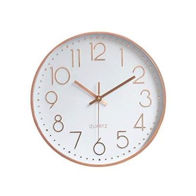 HOMEMOM 掛け時計 おしゃれ 連続秒針 静音 壁掛け時計 時計 壁掛け おしゃれ 部屋 北欧 インテリア 掛時計 見やすい 大数字 玄関 30c