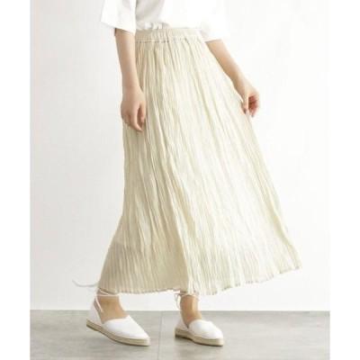 OZOC / オゾック [洗える]シアーワッシャープリーツスカート