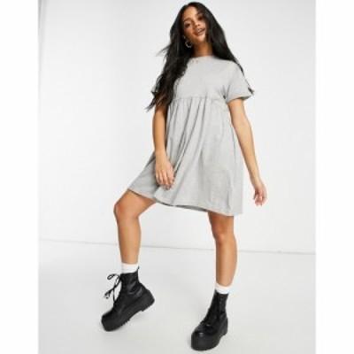 ブレイブソウル Brave Soul レディース ワンピース ワンピース・ドレス Lara Smock Dress In Grey グレー
