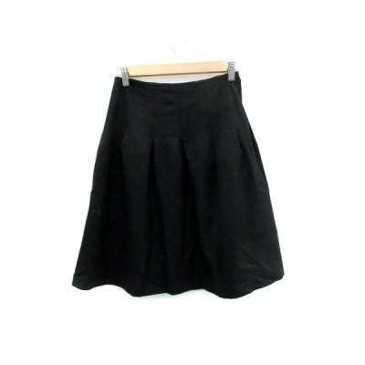 【中古】プロポーション ボディドレッシング PROPORTION BODY DRESSING スカート フレア ひざ丈 無地 ウール 1 黒 ブラック /SM21 レディース 【ベクトル 古着】