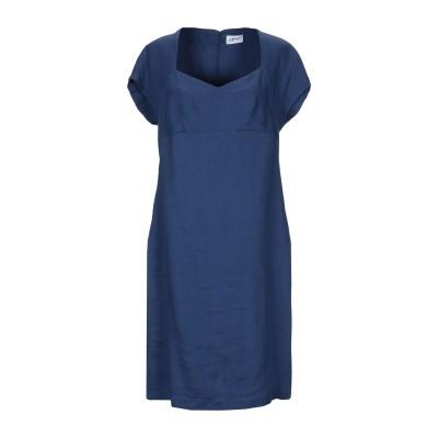 LFDL LA FABBRICA DEL LINO ミニワンピース&ドレス ブルー M 麻 65% / レーヨン 33% / ポリウレタン 2% ミ