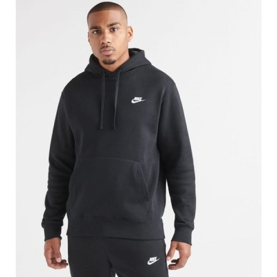 ナイキ Nike メンズ パーカー トップス NSW Club Pullover Hoodie Black/White