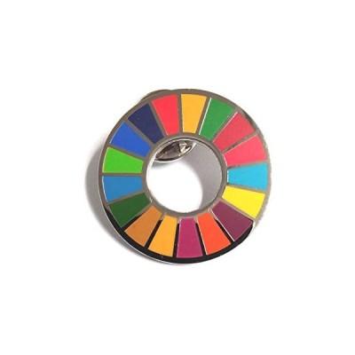 SDGs バッジ 国連 正規品 17の目標 ピンバッジ バッチ バッヂ 本部限定 日本未発売 平型