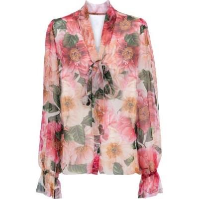 ドルチェ&ガッバーナ Dolce & Gabbana レディース ブラウス・シャツ トップス floral silk chiffon blouse Camelie Rosa Fdo Nat