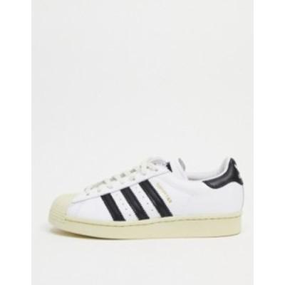 アディダス メンズ スニーカー シューズ adidas Originals Superstar sneakers in white White