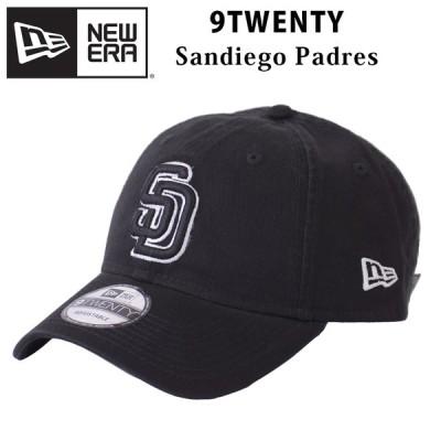 NEW ERA 9TWENTY サンディエゴ パドレス ブラック ローキャップ キャップ 帽子 ロゴ 920