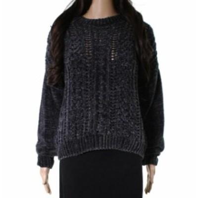 ファッション トップス RD Style NEW Gray Womens Size Small S Open Knit Chenille Sweater