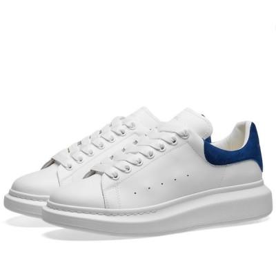 アレキサンダー マックイーン Alexander McQueen メンズ スニーカー ウェッジソール シューズ・靴 Heel Tab Wedge Sole Sneaker White/Navy