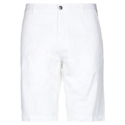 LES COPAINS ショートパンツ&バミューダパンツ ファッション  メンズファッション  ボトムス、パンツ  ショート、ハーフパンツ ホワイト
