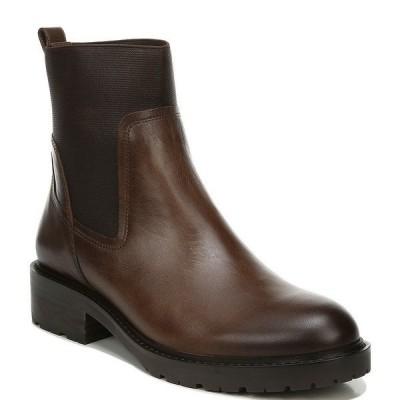 27エディット レディース ブーツ&レインブーツ シューズ Calyx Leather Lug Sole Block Heel Chelsea Booties Chestnut Leather