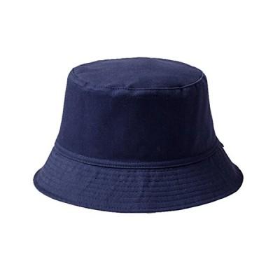 Vwill ハット メンズ レディース バケットハット 無地 帽子 クラシック UVカット 旅行 釣り レジャー 帽子 男女兼用 青