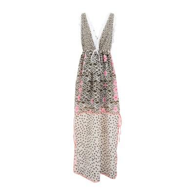 AMOË ロングワンピース&ドレス ミリタリーグリーン S コットン 100% ロングワンピース&ドレス
