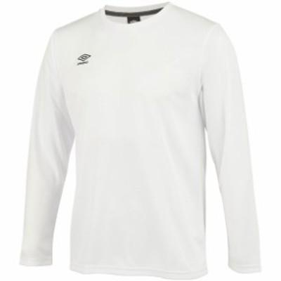 BC L/SドライTシヤツ UMBRO アンブロ サッカーナガソデTシャツ (umusjb51-wht)