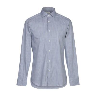 GUGLIELMINOTTI シャツ ブルー 38 コットン 70% / ナイロン 27% / ポリウレタン 3% シャツ