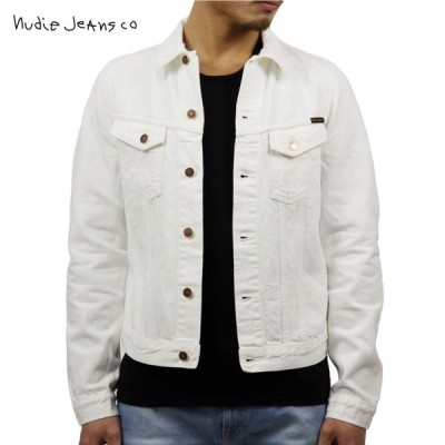 【ポイント5倍 1/17 0:00〜1/17 23:59まで】 ヌーディージーンズ アウター メンズ Nudie Jeans 正規販売店 BILLY DENIM JACKET WHITE