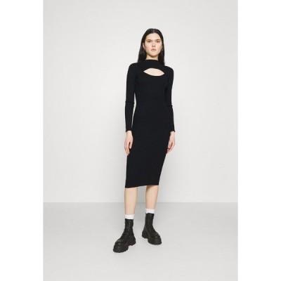 エブンアンドオッド ワンピース レディース トップス Jumper dress - black