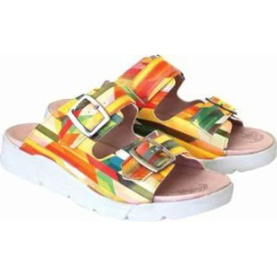 Dromedaris レディースサンダル Dromedaris Terry Slide Multi Bright Leather