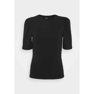 オンリー レディース Tシャツ トップス ONLLIVE LOVE LIFE PUFF - Basic T-shirt - black black