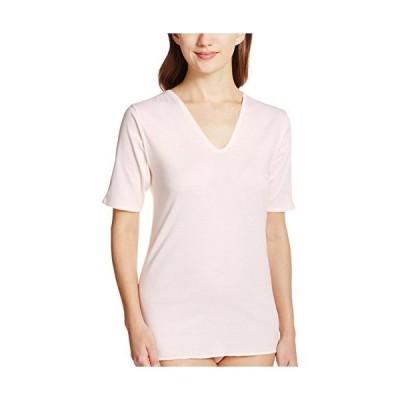 グンゼ インナーシャツ 快適工房 婦人V型五分袖スリーマー 綿100% 日本製 KH5048 レディース カームベージュ 日本M (日本サイ