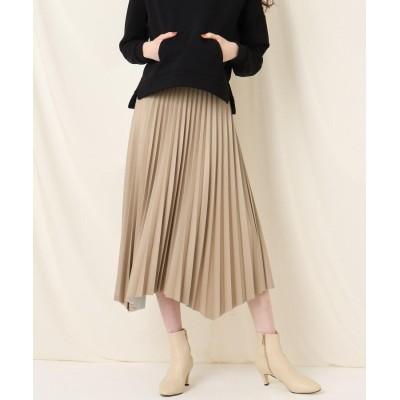 Couture Brooch(クチュールブローチ) エコレザーイレヘムプリーツスカート