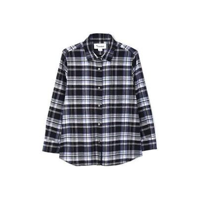 HUMAN WOMAN / ヒューマンウーマン 綿麻マドラスチェックシャツ
