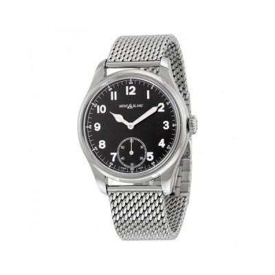 Montblanc/モンブラン メンズ 腕時計 Montblanc 1858 Small 秒s Black Dial ステンレス鋼 メンズ 112639