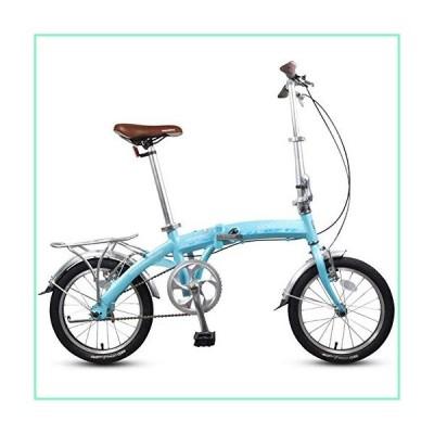 16 '折りたたみ自転車、大人キッズミニシングルスピード折りたたみ自転車、アルミ合金軽量ポータブル折りた